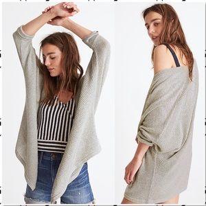 Madewell Seabank Open Front Cardigan Sweater Moss